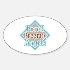 Proud Preemie Auntie Oval Decal