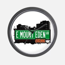 E Mount Eden Av, Bronx, NYC Wall Clock