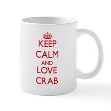 Keep calm and love Crab Mugs