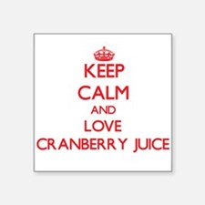 Keep calm and love Cranberry Juice Sticker