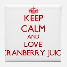 Keep calm and love Cranberry Juice Tile Coaster