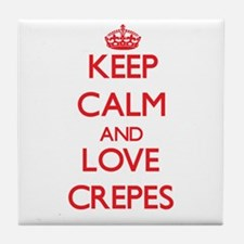 Keep calm and love Crepes Tile Coaster