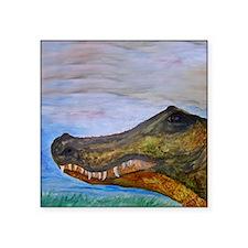 "Alligator Head Art Square Sticker 3"" x 3"""