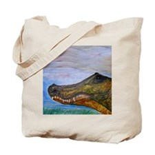 Alligator Head Art Tote Bag