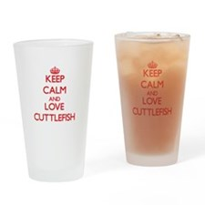 Keep calm and love Cuttlefish Drinking Glass