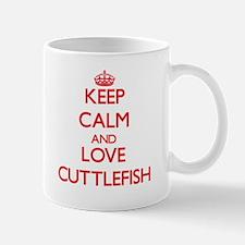 Keep calm and love Cuttlefish Mugs