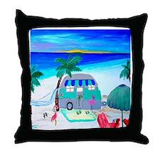 Air stream Camper art Throw Pillow