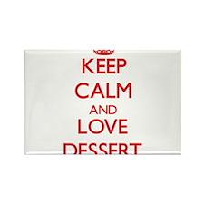 Keep calm and love Dessert Magnets