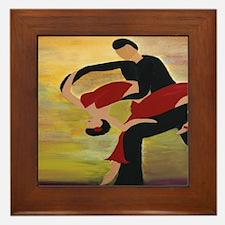 Ballroom Dancers Framed Tile