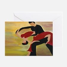 Ballroom Dancers Greeting Card