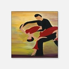 "Ballroom Dancers Square Sticker 3"" x 3"""