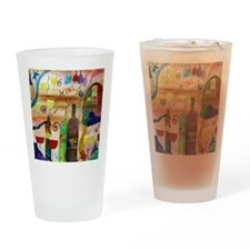Wine Time Drinking Glass