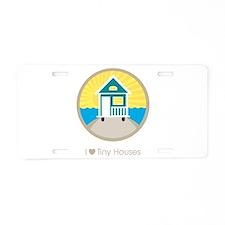 Ilovetinyhousesbeachscene Aluminum License Plate