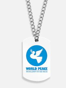 World Peace Dog Tags