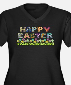 Happy Easter Egg Flowers Plus Size T-Shirt