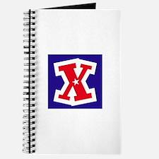 Patriotic Monogram X Journal