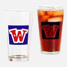 Patriotic Monogram W Drinking Glass