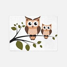 Brown Owl Duo 5'x7'Area Rug