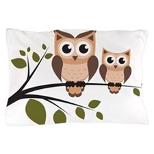Brown Owl Duo Pillow Case