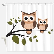 Owl shower curtains owl fabric shower curtain liner