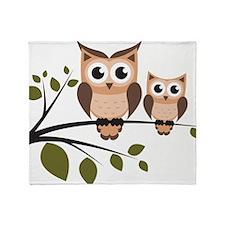 Brown Owl Duo Throw Blanket