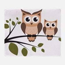 Brown Owl Duo Throw Blanket