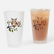 Brown Owl Duo Drinking Glass