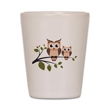 Brown Owl Duo Shot Glass
