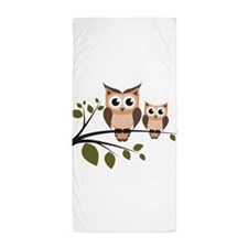 Brown Owl Duo Beach Towel