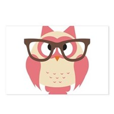 Owl with Glasses Postcards (Package of 8)