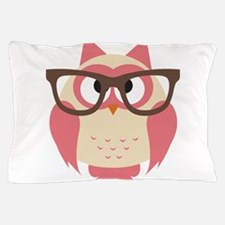 Owl with Glasses Pillow Case