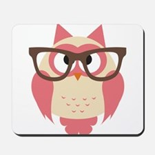Owl with Glasses Mousepad