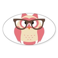 Owl with Glasses Decal