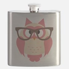 Owl with Glasses Flask