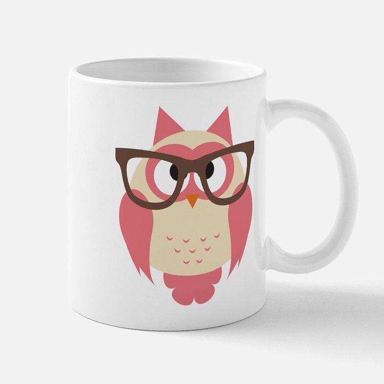 Owl with Glasses Mugs
