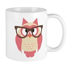 Owl with Glasses Mugs