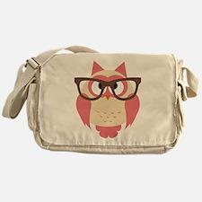 Owl with Glasses Messenger Bag