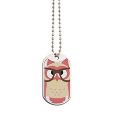 Owl with Glasses Dog Tags