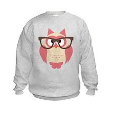 Owl with Glasses Sweatshirt