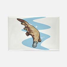 Swimming Duckbill Platypus Rectangle Magnet