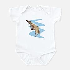 Swimming Duckbill Platypus Infant Bodysuit