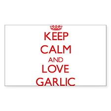 Keep calm and love Garlic Decal