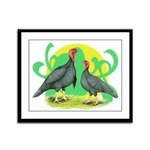Blue Slate Turkeys2 Framed Panel Print