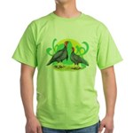 Blue Slate Turkeys2 Green T-Shirt