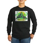 Blue Slate Turkeys2 Long Sleeve Dark T-Shirt
