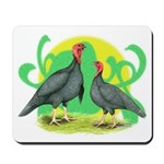 Blue Slate Turkeys2 Mousepad