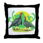 Blue Slate Turkeys2 Throw Pillow