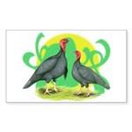 Blue Slate Turkeys2 Rectangle Sticker