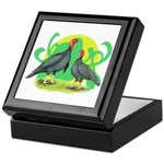 Blue Slate Turkeys2 Keepsake Box