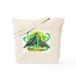 Blue Slate Turkeys2 Tote Bag